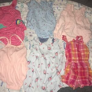 Bundle of Baby 3-6 & 6 month dresses & rompers